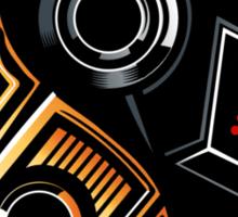 Daft Yin-Yang Sticker Sticker