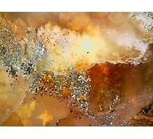 Rumble Fire (Plume Agate) Photographic Print