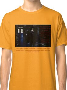 Matt Smith as the Eleventh Doctor Classic T-Shirt