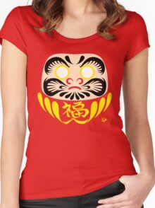 Daruma (blank) Women's Fitted Scoop T-Shirt