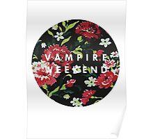 vampire weekend - floral Poster