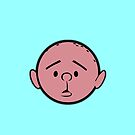 Karl Pilkington - Head - LIGHT BLUE by aelari1