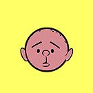 Karl Pilkington - Head - YELLOW by aelari1