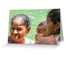 Soaking in the river. Greeting Card