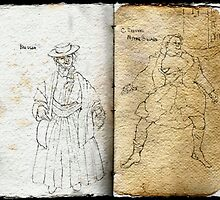 Altered Sketchbook Mitre Square & Beggar by Cameron Hampton