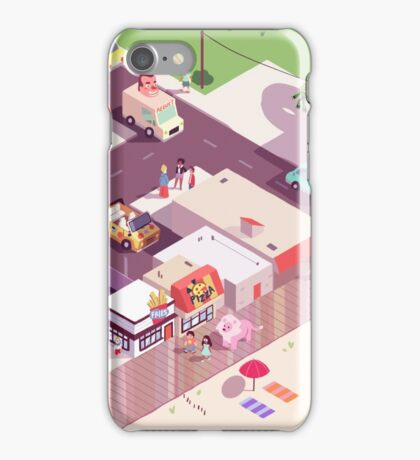 Isometric Beach City iPhone Case/Skin