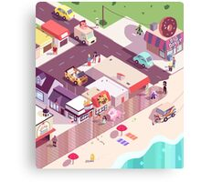 Isometric Beach City Canvas Print