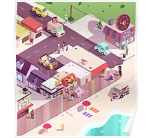 Isometric Beach City Poster