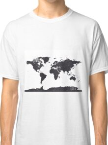 World map white Classic T-Shirt