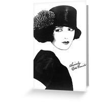 Sincerely Bebe Daniels Greeting Card