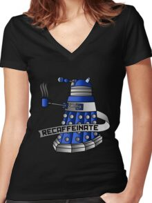 Recaffeinate Women's Fitted V-Neck T-Shirt