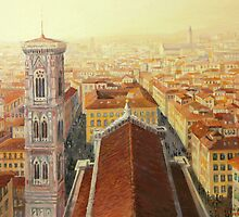 Flight over Florence by kirilart