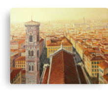 Flight over Florence Canvas Print