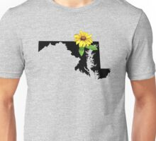 Maryland Silhouette and Flower Unisex T-Shirt