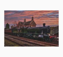 Great Western Railway Engine 2857 at Sunset One Piece - Long Sleeve