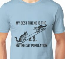 My BF is the entire Cat Population v2 Unisex T-Shirt