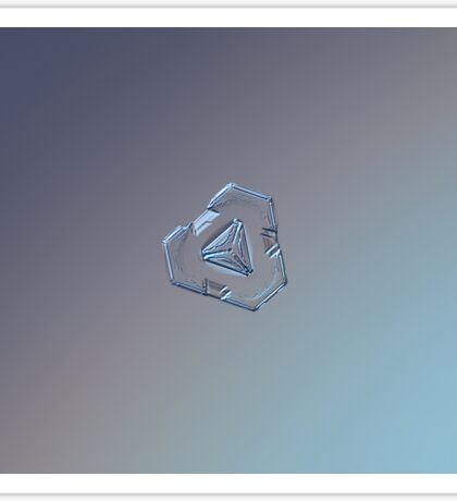 Enigma, real snowflake macro photo Sticker