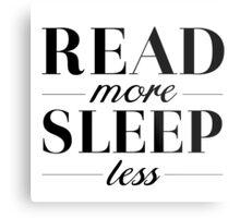 Read/Sleep Metal Print