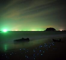 Bio-luminescent Plankton  by PerkyBeans