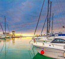 Sunset at the marina by Ralph Goldsmith