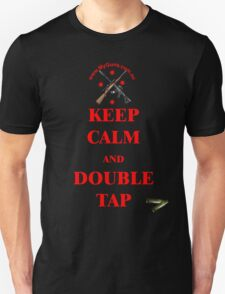 Keep Calm & Double Tap! in Red  T-Shirt