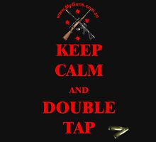 Keep Calm & Double Tap! in Red  Unisex T-Shirt