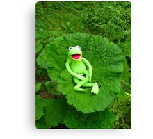 Butterbur Journal Large Nature Frog Kermit Canvas Print