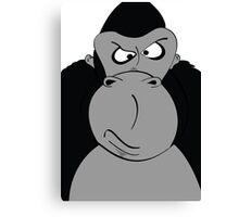 Grumpy-Goofy Gorilla Canvas Print