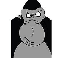Grumpy-Goofy Gorilla Photographic Print