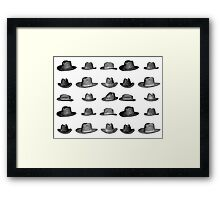 hats! Framed Print