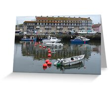 The Harbour at West Bay in Dorset Greeting Card