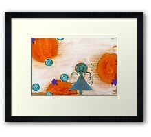Mapping Your Wings... Framed Print