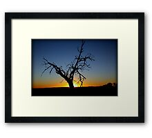 blue skies shining on me Framed Print