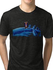 Guybrush went bone hunting! Tri-blend T-Shirt
