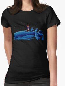 Guybrush went bone hunting! Womens Fitted T-Shirt