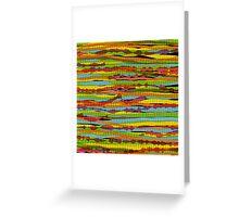 pattern - spaghettis 1 Greeting Card
