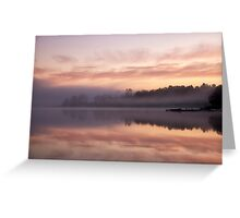 Caramel sunrise Greeting Card