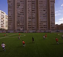 football stadium at Carrer de les Camèlies, Barcelona 2010 by Michel Meijer
