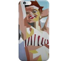 Marilyn Monroe In Red and White Striped Bikini iPhone Case/Skin