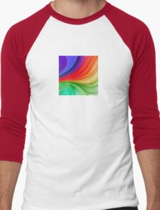 Abstract Rainbow Background Men's Baseball ¾ T-Shirt