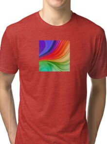 Abstract Rainbow Background Tri-blend T-Shirt