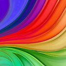 Abstract Rainbow Background by taiche