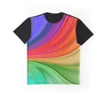 Abstract Rainbow Background Graphic T-Shirt