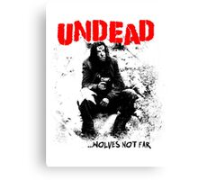 Punks Not Undead Canvas Print