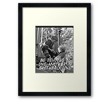 """""""Be devoted to one another in brotherly love"""" by Carter L. Shepard Framed Print"""
