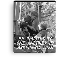 """""""Be devoted to one another in brotherly love"""" by Carter L. Shepard Canvas Print"""