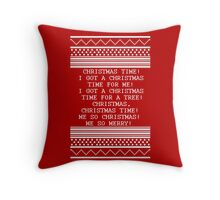 Britta Christmas sweater Quote Throw Pillow