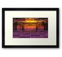 Red Queen's Psychodelic Courtyard SA Framed Print