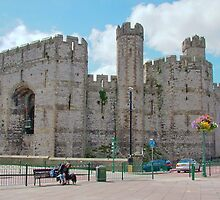 Caernarfon Castle North Wales by AnnDixon