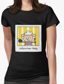 G'day - sheep at work Womens Fitted T-Shirt
